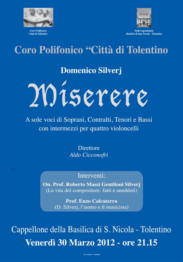 Venerdì 30 Marzo 2012 – Miserere – Basilica San Nicola Tolentino
