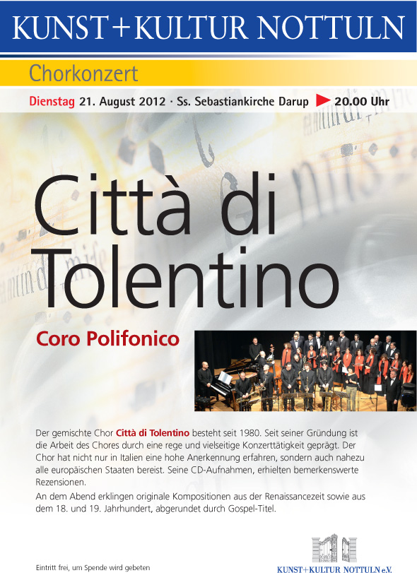 Il Coro di Tolentino in Germania