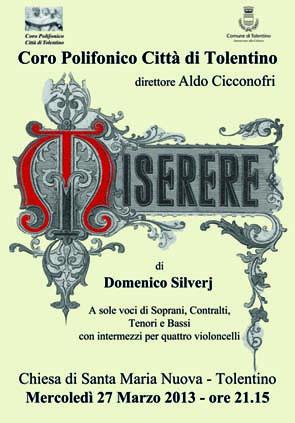"""Esecuzione del """"MISERERE"""" di Domenico Silverj"""