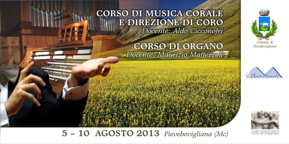 CORSO DI MUSICA CORALE E DIREZIONE DI CORO – CORSO DI ORGANO