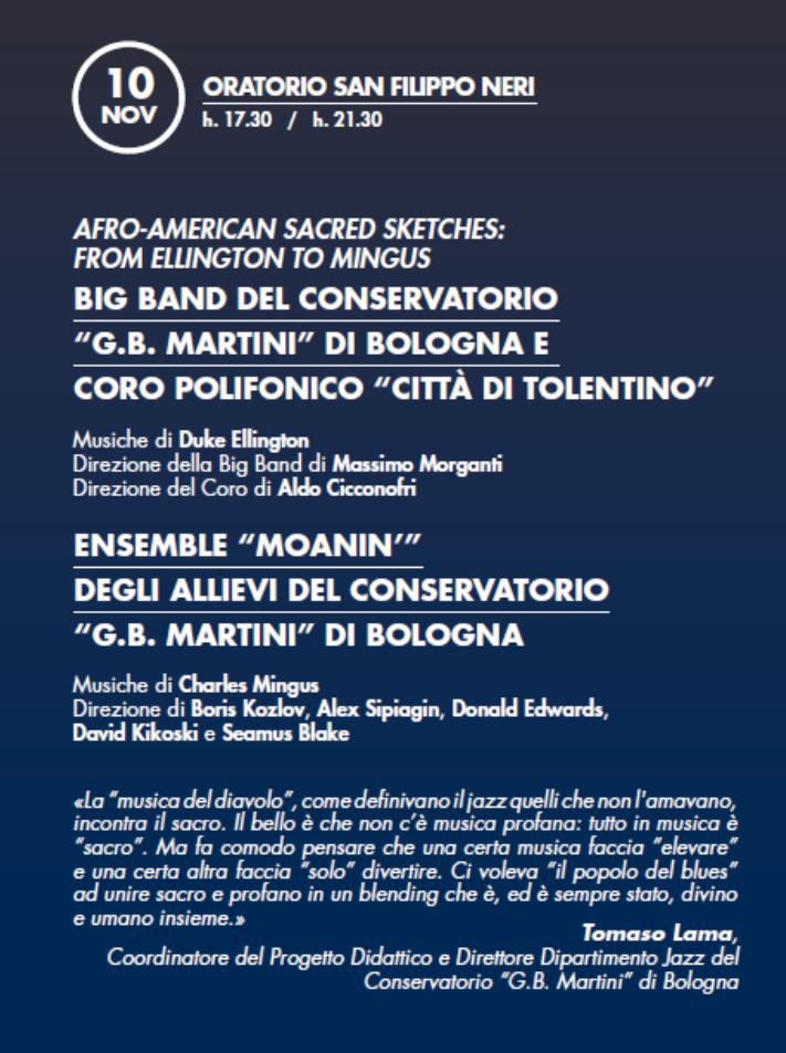 """Il Coro Polifonico """"Città di Tolentino"""" al Bologna Jazz Festival"""