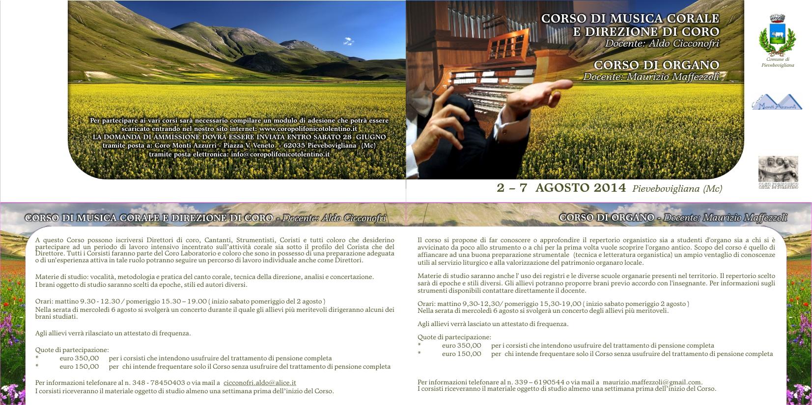 CORSO DI MUSICACORALE E DIREZIONE DI CORO 2014
