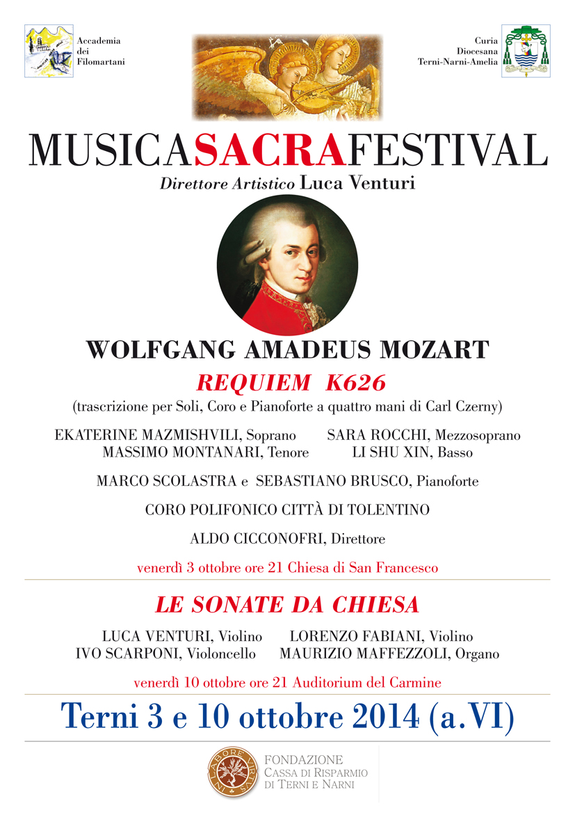 """Il REQUIEM di Mozart eseguito dal Coro Polifonico """"Città di Tolentino"""""""