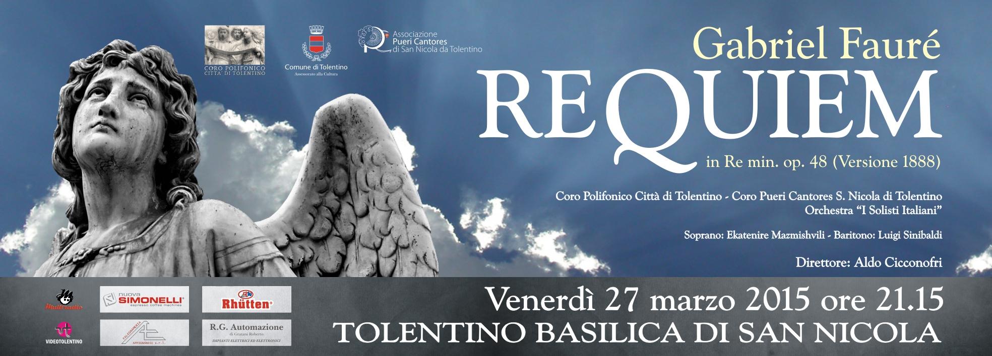 """Requiem"" di Faurè per la Pasqua a Tolentino"